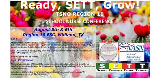 2019 TSNO Region 18 School Nurses Conference