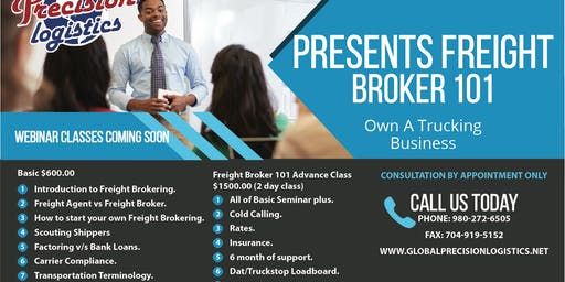 Copy of Copy of Freight Broker 101 Advance 2 day Seminar