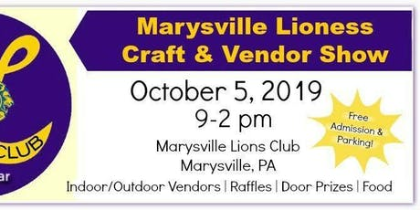 Marysville Lioness Craft and Vendor Show- 2019 tickets
