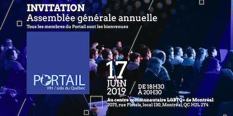 Assemblée générale annuelle du Portail VIH/sida du Québec billets
