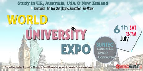World Uni Expo @ Suntec Sat 6 July Level 3 Concourse tickets
