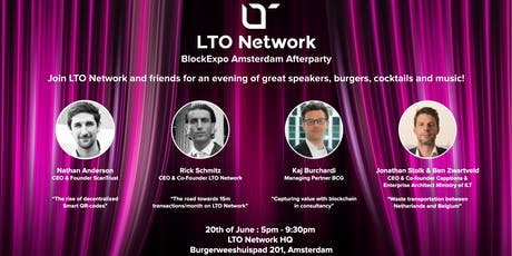 LTO Network BlockExpo Afterparty tickets