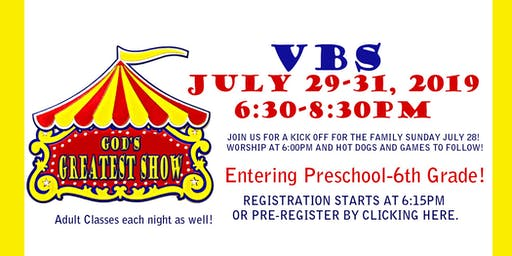"""VBS """"God's Greatest Show"""""""