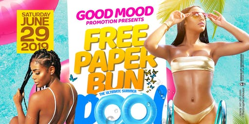 Free Paper Bun - Hawaiian Summer Pool Party