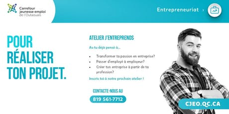 "Atelier ""J'entreprends""  tickets"