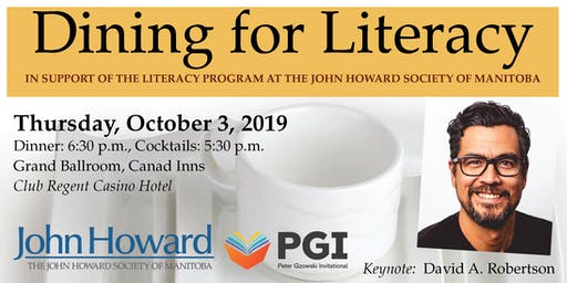 Dining for Literacy - In Support of The John Howard Society of Manitoba