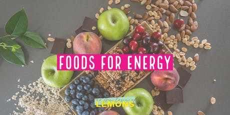 Foods for Energy workshop tickets