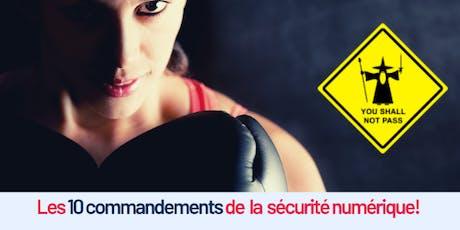 Les 10 commandements de la sécurité numérique billets