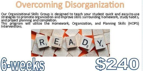 $240 (6-sessions) UF Health PAIP: Overcoming Disorganization tickets