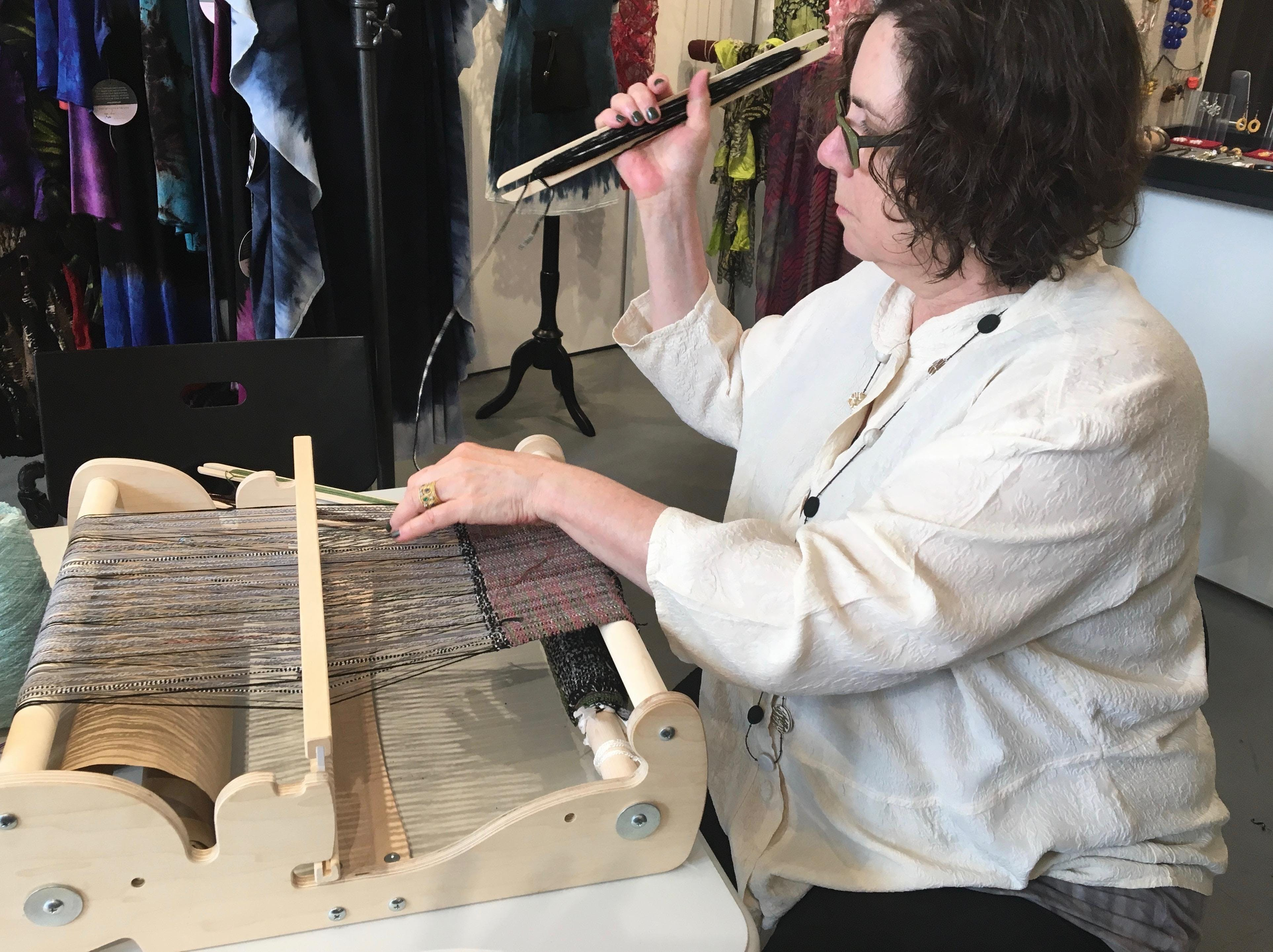 Warping and Sampling on a Rigid Heddle Loom banner