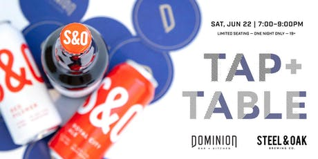 Tap + Table : Local Craft Beer Pairing at Dominion Bar + Kitchen tickets