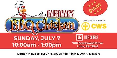 Kauffman's Chicken BBQ - Benefits CWS tickets