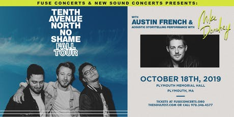Tenth Avenue North - No Shame - Fall Tour (Plymouth, MA) tickets