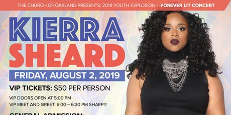 """Forever LIT"" Youth Explosion 2019: Featuring Kierra ""Kiki"" Sheard tickets"