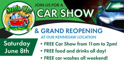 Suds Up Car Wash Grand Reopening and Car Show