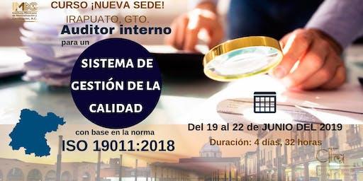 AUDITOR INTERNO PARA UN SGC CON BASE EN LA NORMA ISO 19011:2018