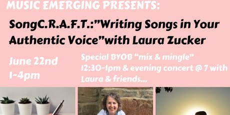 "Music Emerging Presents: SongC.R.A.F.T ""Writing Songs in Your Authentic Voice"" tickets"