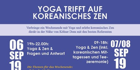 Yoga trifft auf koreanisches Zen (Teezeremonie/Essenszeremonie) Tickets