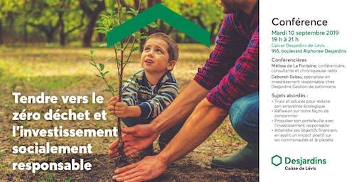 CONFÉRENCE | Tendre vers le zéro déchet et l'investissement socialement responsable