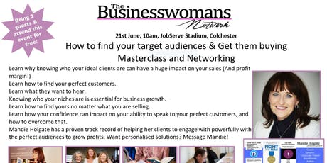 How to find your target audiences & Get them buying Masterclass and Networking  tickets
