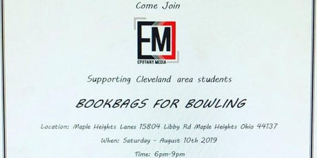 Bookbags for Bowling tickets