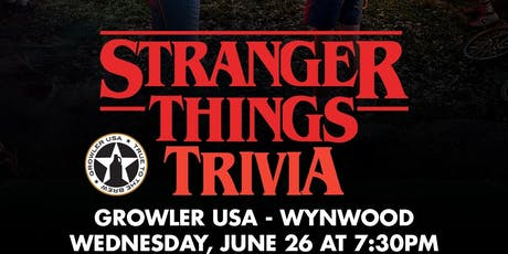 Stranger Things Trivia at Growler USA Wynwood tickets