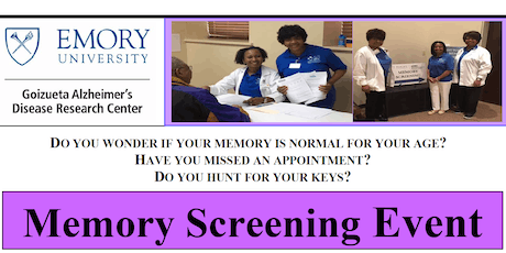 Goizueta Emory Alzheimer's Disease Research Center - 2019 Memory Screening Event tickets