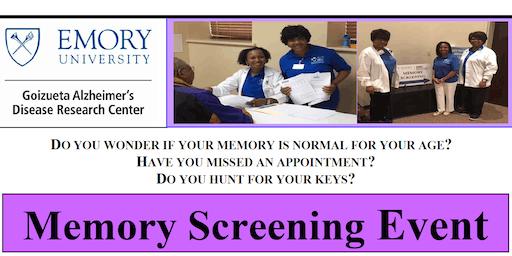 Goizueta Emory Alzheimer's Disease Research Center - 2019 Memory Screening Event