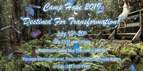 Camp Hope DESTINED FOR TRANSFORMATION 2K19 tickets