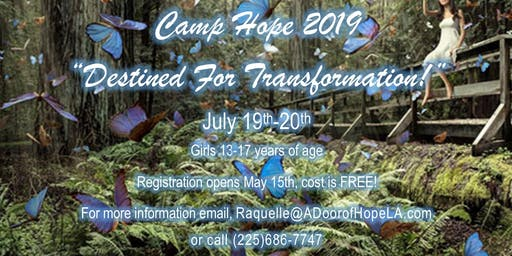 Camp Hope DESTINED FOR TRANSFORMATION 2K19