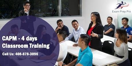 CAPM - 4 days Classroom Training  in Sacramento,CA tickets