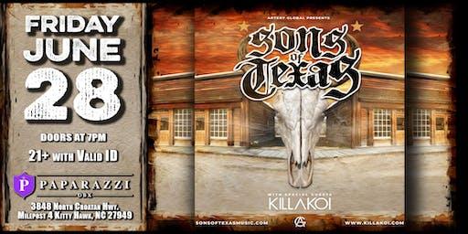 SONS of TEXAS feat. KILLAKOI Live! at Paparazzi OBX