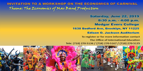 3rd Prep Workshop for International Conference on the Economics of Carnival tickets