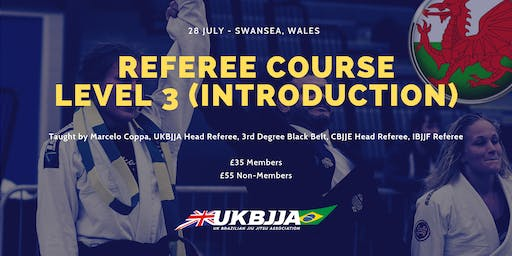 Brazilian Jiu Jitsu Referee Course - Level 3 (introduction) - Wales