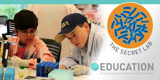 The Secret Lab Middle School Biotech Camp, June 17-21, 2019