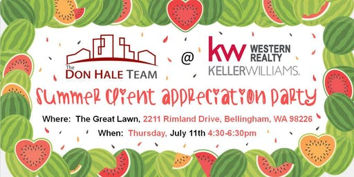 The Don Hale Team Summer Client Appreciation Party