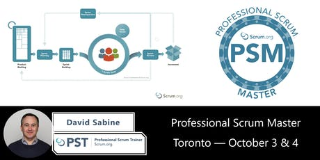 Professional Scrum Master (PSM) – Toronto October 3 & 4 tickets
