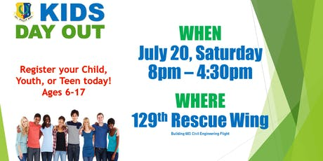 "129th Rescue Wing ""Kids Day Out""  (Open only to 129 Rescue Wing Children and their friends) tickets"