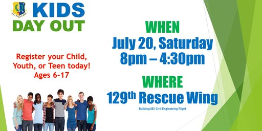 "129th Rescue Wing ""Kids Day Out""  (Open only to 129 Rescue Wing Children and their friends)"