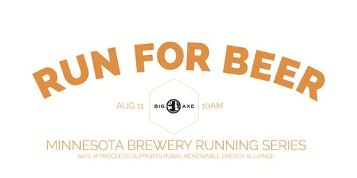Sun Run 5k at Big Axe Brewing | Part of the 2019 MN Brewery Running Series