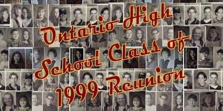 Ontario High School Class of 1999 Reunion (Ontario, OR) tickets