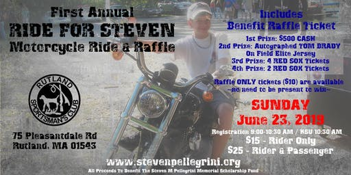 First Annual RIDE FOR STEVEN Motorcycle Ride & Raffle