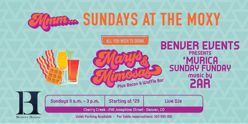 All You Wish to Drink   Benver Events Presents: 'Murica Sunday Funday at Mmm... Sundays