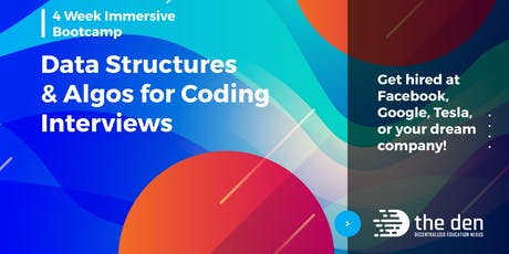 Data Structures & Algorithms for FAANG Coding Interviews | 4 Weeks tickets