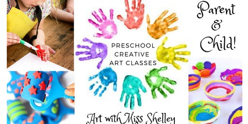 Thursday Preschool Art Class with Miss Shelley: Colorful Clay Bowls!