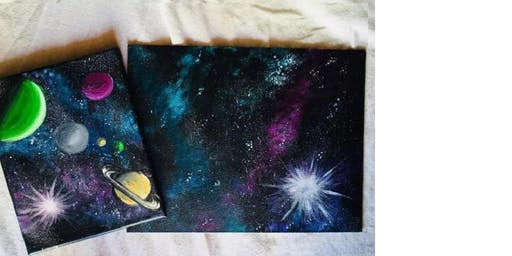 Craft Day: Galaxy Canvas Art