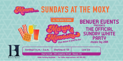 All You Wish to Drink | Benver Events Presents: The Official Sunday White Party at Mmm... Sundays
