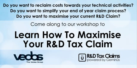 Learn How To Maximise Your R&D Tax Claim tickets
