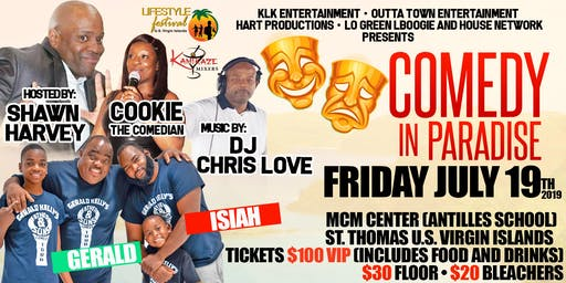 COMEDY IN PARADISE & AFTERPARTY