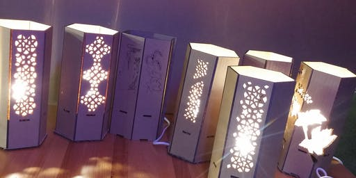 Laser-cut lampshades workshop: Laser Cutter and Adobe Illustrator Inductions